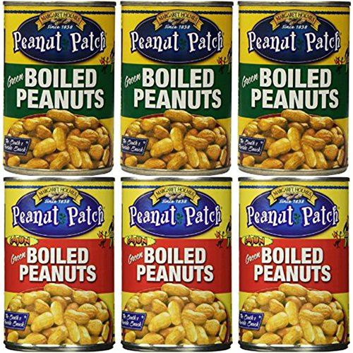 3 Pack Boiled Peanuts and 3 Pack Cajun Boiled Peanuts (Total of 6) (Can Boiled Peanuts A Cajun In)