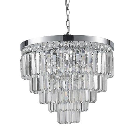 Lámpara de techo redonda de cristal Lámpara de techo de ...