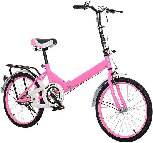 TXTC Bicicleta Mujer, Bicicletas De 20 Pulgadas Plegable De Ruedas ...