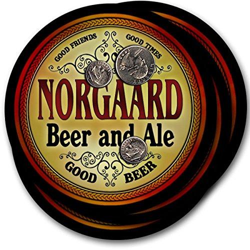NORGAARDビール& Ale – 4パックドリンクコースター   B003QXAM10