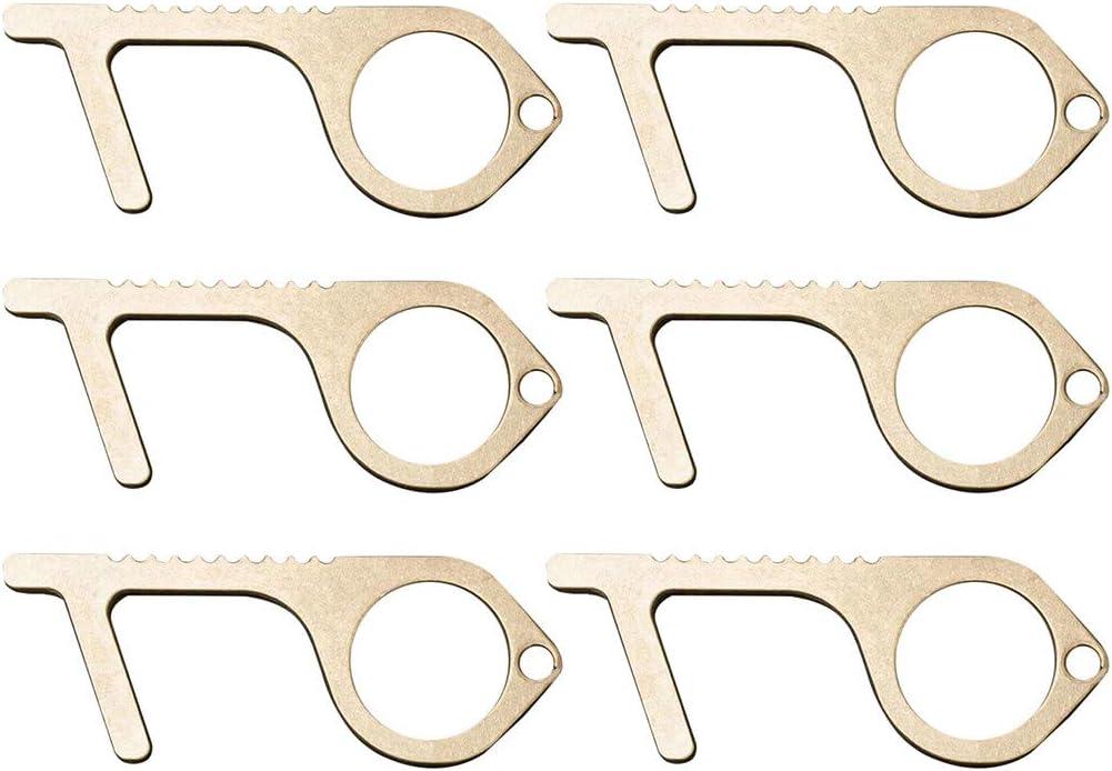 Portable Non-Contact Tools Contactless Door Opener Brass Key Door Opener 3PCS, G