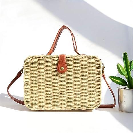 93780e477a71 Amazon.com: Fashion Outdoor Summer Beach Bags Straw Weave Designer ...