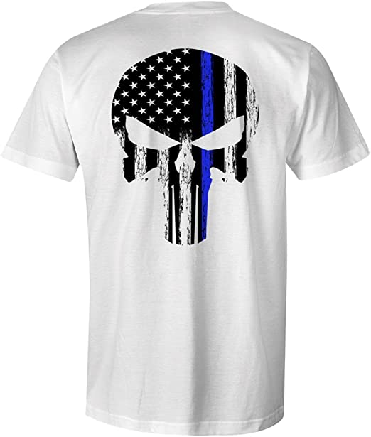Amazon.com: Thin Blue Line Leo Police - Camiseta para hombre ...