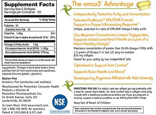 ultrapure omega3 fish oil concentrate highpotency - Omax 3