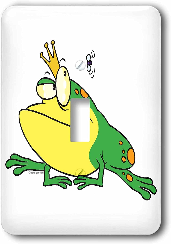 3drose Lsp 104104 1 Funny Prince Frog Animal Cartoon Single Toggle Switch Switch Plates Amazon Com