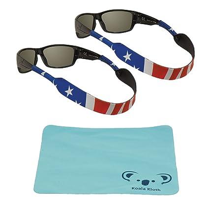 9ccf74afa922 Koala Lifestyle Chums Classic Neoprene Patriotic Eyewear Retainer Sunglass  Strap Band