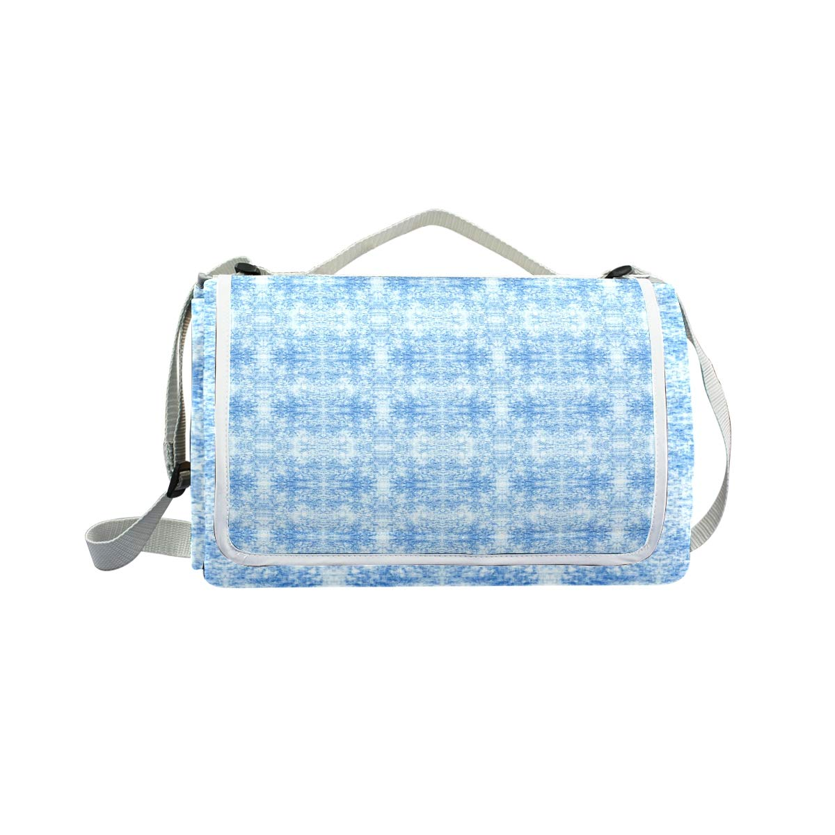 LOIGEIDQ Picnic mat Rchambray Light Waterproof Outdoor Picnic Blanket, Sandproof and Waterproof Picnic Blanket Tote for Camping Hiking Grass Travelling DualLayers by LOIGEIDQ (Image #3)