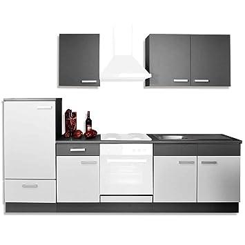ROLLER Küchenblock GRETA - hellgrau-graphit - 270 cm breit: Amazon ... | {Roller küchen 23}