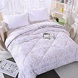 Polyester bed/bedding Warmth Full/Queen/Full/Twin Size Comforter Duvet Insert,Hypoallergenic Box Stitched,Velvet Winter Quilt,European Style Flour,220×240cm(3.7Kg)