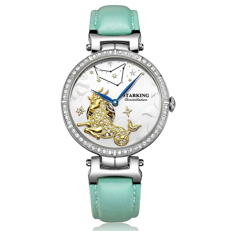 Starking Damen al0212sl41 Capricornus Skelett Automatische Kleid Armbanduhr Romantische Sternbilder Collection