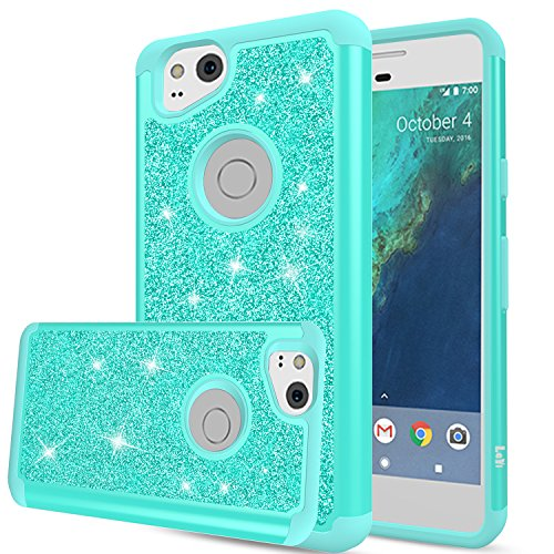 Pixel 2 Case, Google Pixel 2 Case, LeYi Glitter Case with HD Screen Protector,Cute Girls Women Silicon Shockproof Cell Phone Accessories Protective Cover Case for Google Pixel2 TP Mint