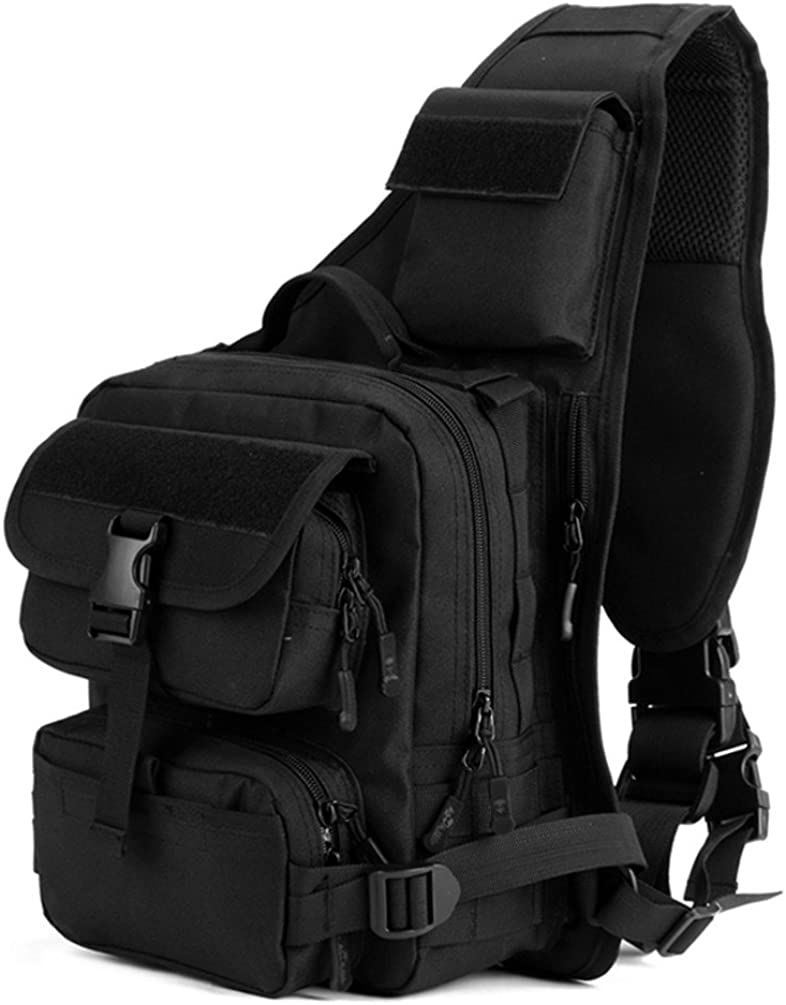 Tactical Military Daypack Sling Chest Pack Molle Laptop Crossbody Duty Large Shoulder Bag