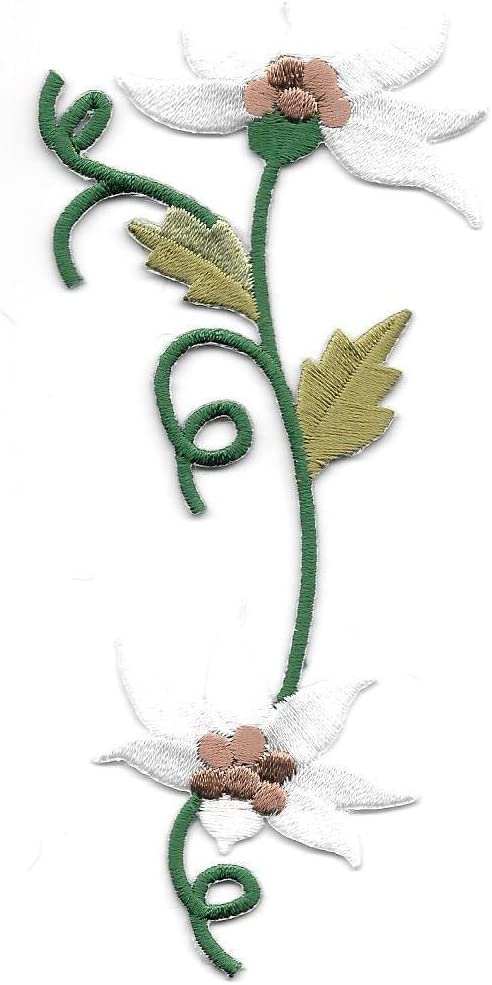 White Edelweiss Vine Flower Patches for Women Man Patch Embroidered Patch