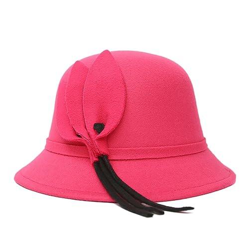 Damas Bóveda Aleros Cortos Casual Otoño E Invierno Caliente Moda Hojas Sombrero Sombrero De Flores S...