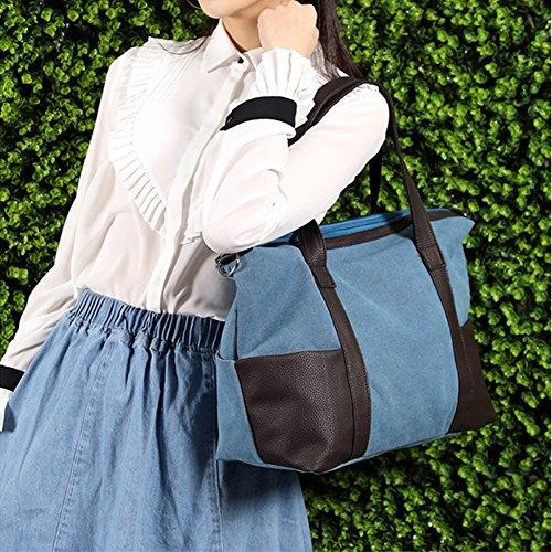 11 female capacity CJ portable bag bag Large canvas Shoulder UwPT8qa