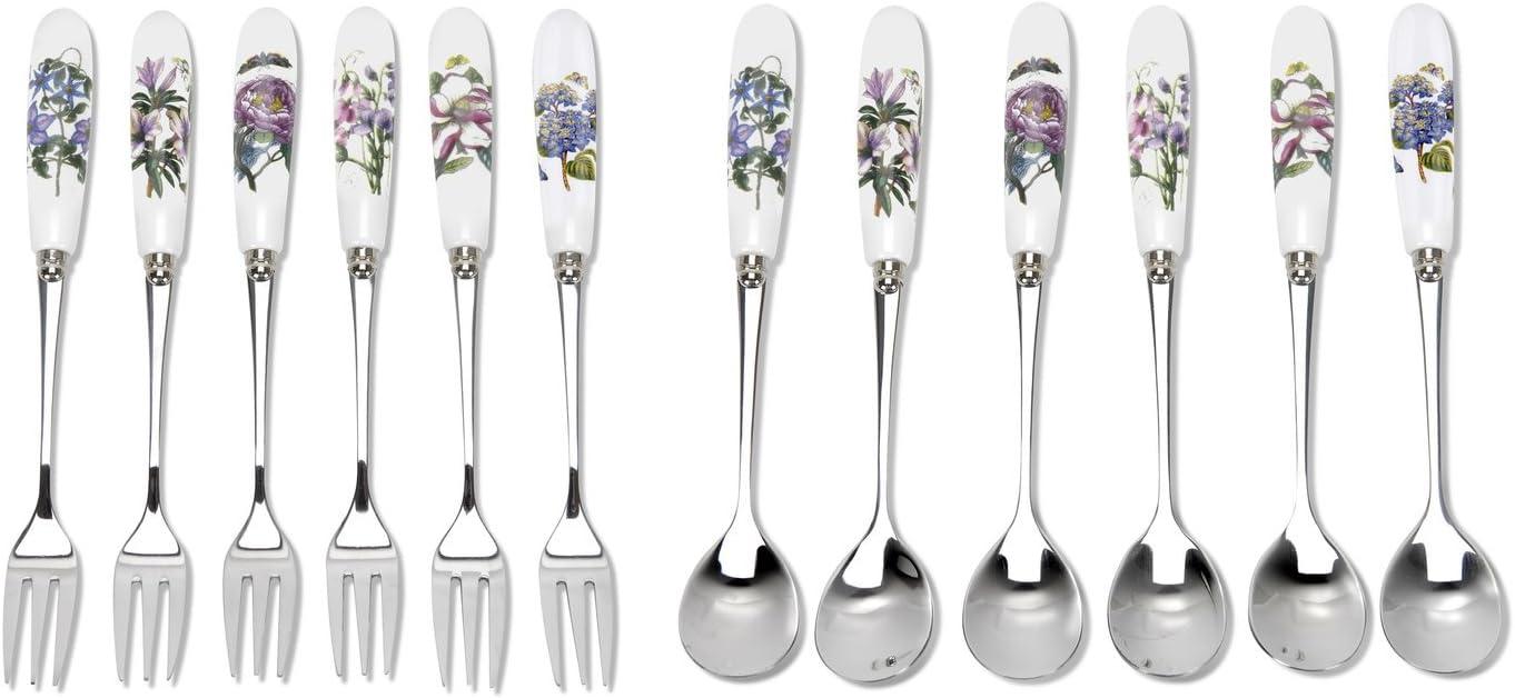 Portmeirion Botanic Garden - Pastry Fork And Tea Spoon Set Of 12
