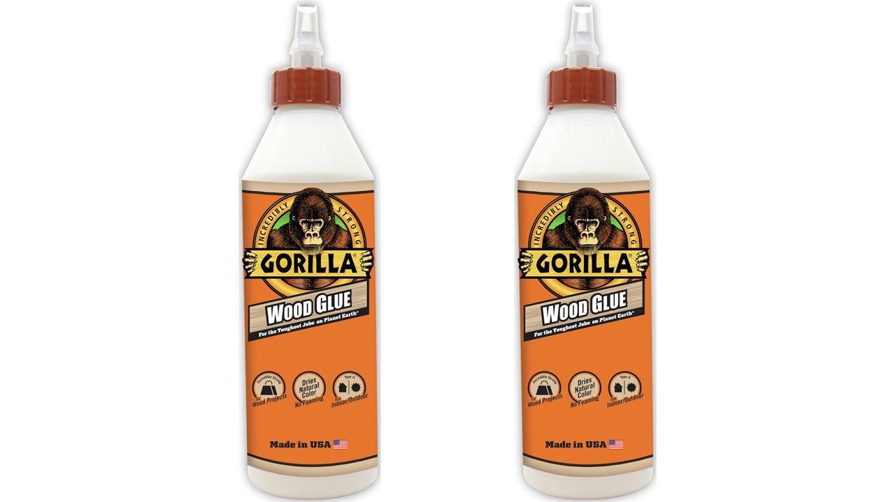 Gorilla Wood Glue, 18 ounce Bottle, (2 Pack)