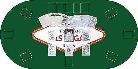 Oedim Tapete Poker Antideslizante Oval Las Vegas Verde PVC 120 cm x 60 cm | Tapete Poker Mesa PVC | Tapete vinilico para mesas | Poker Las Vegas Verde: Amazon.es: Hogar