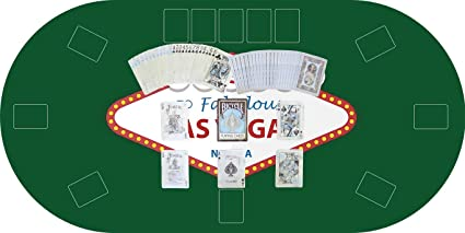 Oedim Tapete Poker Antideslizante Oval Las Vegas Verde PVC ...
