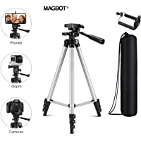 MAGBOT Advance Tripod Stand Holder for Mobile Phones & DSLR Cameras 4 Section Lever Lock with Mobile Holder with 3-Dimensional Head Tiktok Stand for Making Like and Tiktok & YouTube Videos.