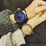 Generic Retro casual atmosphere watch man boy and women girls lady students Korean fashion simple Shi Ying watches couple