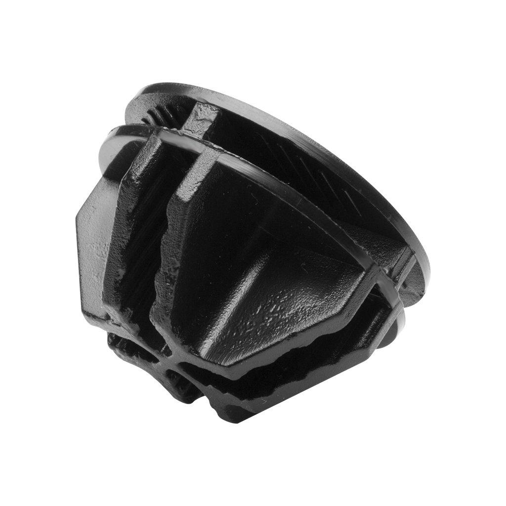 LANGRIA 8 x Pieza de unión Connectores de plástico Accesorio para armario modular Negro