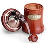 Coffee Grinder Manual, Wooden Coffee Mill with Ceramic Burr, Large Capacity, Cast Iron Hand Crank, Portable Adjustable Grinder By UnderReef