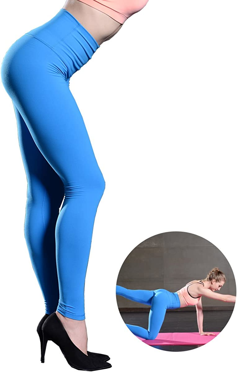 Avanlo Leggings Black Women Yoga Workout Running Fitness Gym High Waist Slim Full Length Legging Postpartum Control Pants Santorini Blue Small At Amazon Women S Clothing Store