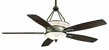 Casablanca 64395 Atria 68-Inch Aged Bronze Ceiling Fan with Five Reclaimed Antique Blades and a Light Kit
