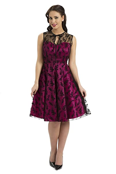 Voodoo Vixen Estilo Vintage Rockabilly e Instrucciones para Hacer Vestidos de Encaje diseño de Vestido de