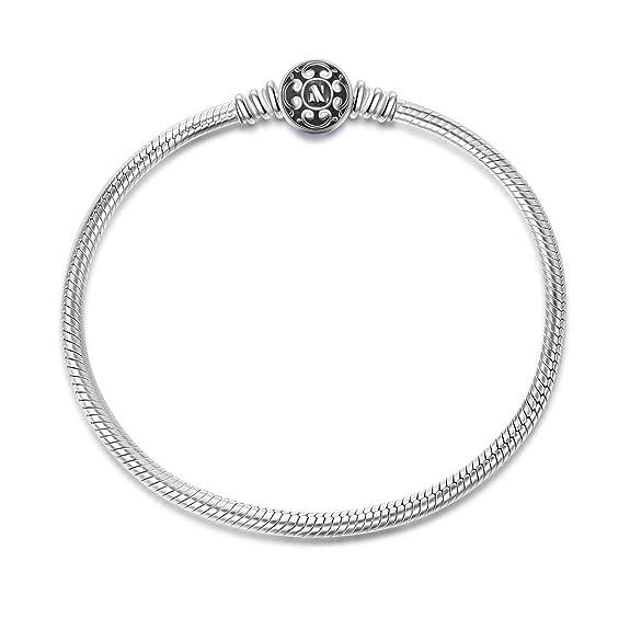 42 opinioni per NinaQueen Bracciale da donna argento sterling 925 per Charms Bead- Nero