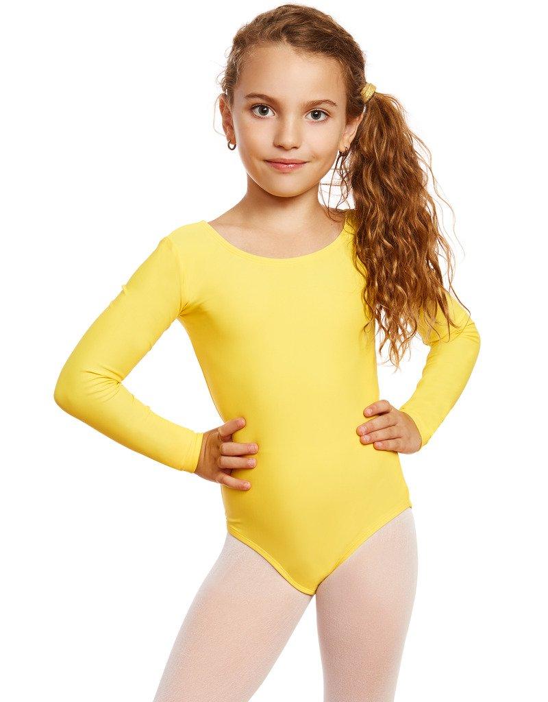 Leveret Girls Leotard Yellow Long Sleeve Toddler (2-4)