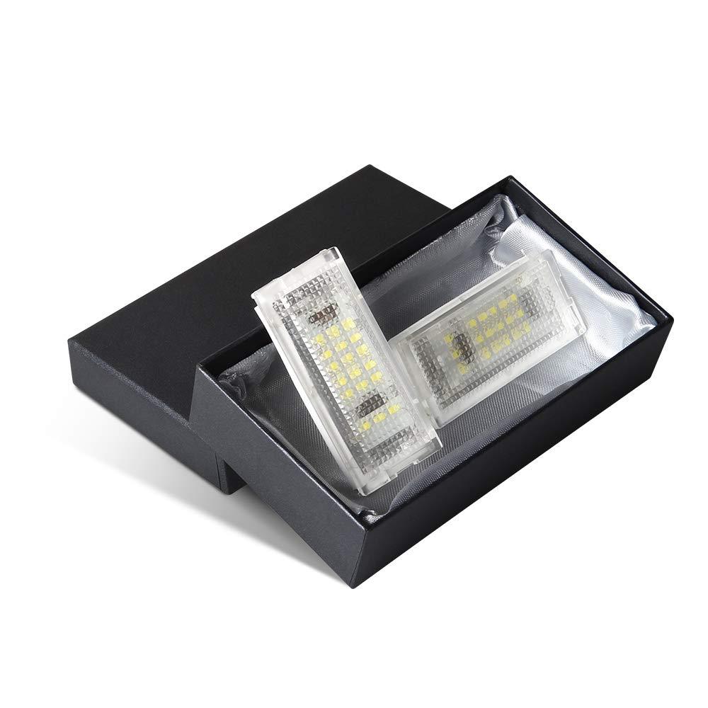 Blanc 6000K 2 pi/èces /Éclairage pour Plaque dimmatriculation LED lampe de plaque dimmatriculation pour E46 4D 1998-2003