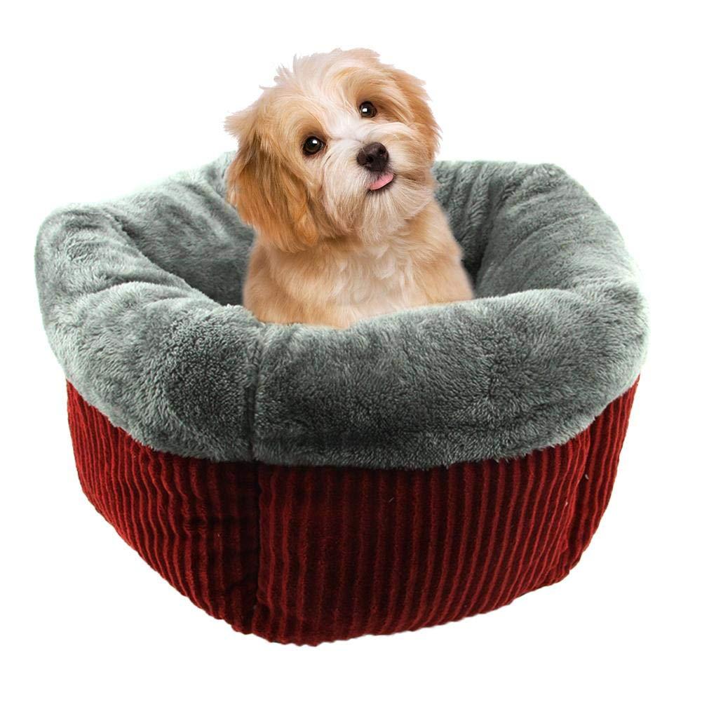 Hualieli Pet Nest - Saco de Dormir para Gato, diseño de Ondas, pentagonal, Redondo, para otoño e Invierno: Amazon.es: Productos para mascotas