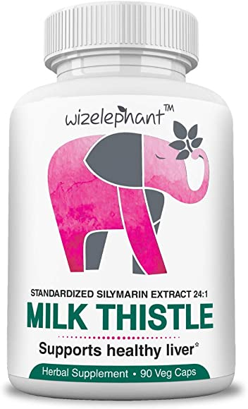 Milk Thistle – Max Strength 24×1 Seed Extract – 400mg per Veg Cap – 80 Silymarin Flavanoids – for Liver Health and Detox – Powerful Antioxidant – 90-Day Supply