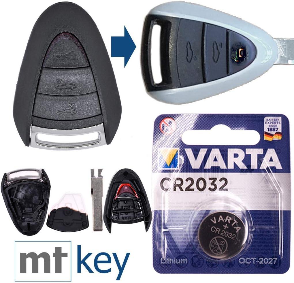Fernbedienung Ersatz 3-Tasten Schlüssel Gehäuse für Porsche 911 997 Boxster