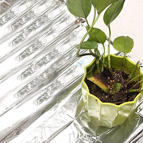Toolcool 82x47 Inch Silver Plant Reflective Film Grow Light Accessories Greenhouse Reflectance Coating