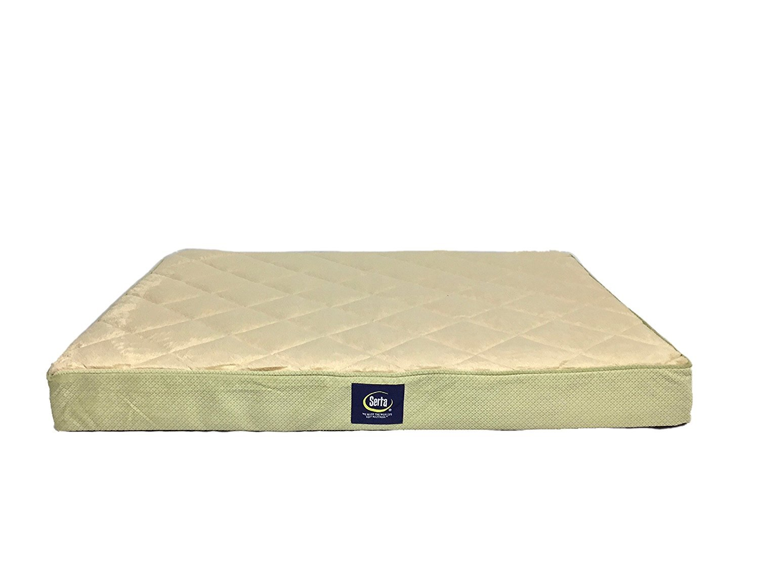 Serta Quilted Pillowtop Pet Bed Cover, Large, Sage - Replacement Cover Only by Serta (Image #1)