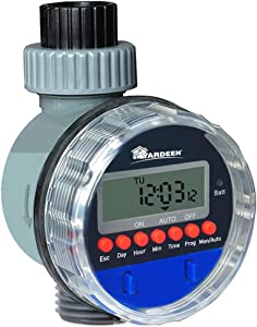 Yardeen Electronic Water Timer Garden Irrigation Controller Digital Intelligence Watering System LCD Waterproof, No Water Pressure Required