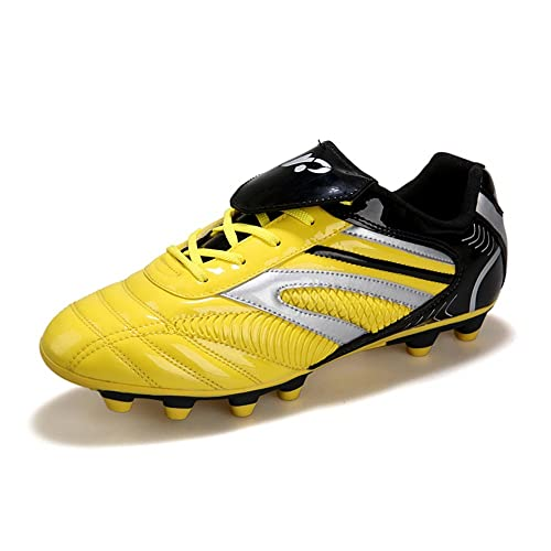 d738d22ee YING LAN Men's Boys Turf Cleats Soccer Athletic Football Outdoor/Indoor  Sports Shoes AG Yellow