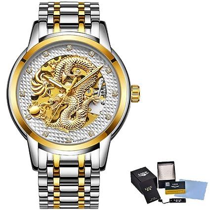 Amazon.com: Dragon Skeleton - Reloj mecánico automático para ...