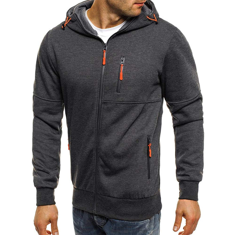 Rambling New Mens Autum Winter Long Sleeve Zipper Hooded Sweatshirt Cardigan Tops