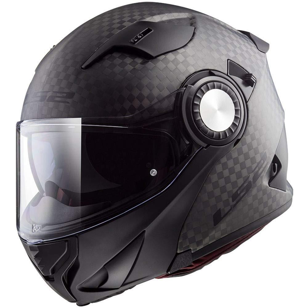 LS2 Helmets Unisex-Adult Modular Vortex Carbon Matte, Small 313-1002