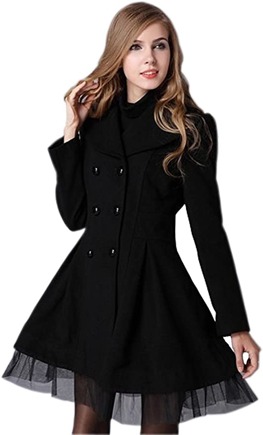 Woman Slim Fit Double Breasted Lapel Trench Wool Coat Jacket At Amazon Women S Coats Shop Women short trench coat is rated 4.0 out of 5 by 9. woman slim fit double breasted lapel trench wool coat jacket
