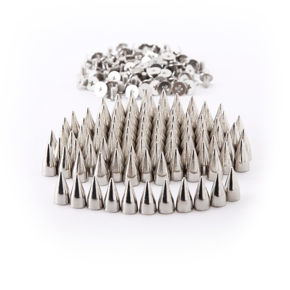 100x15mm Metal Bullet Stud Spike Punk Belt Bag Leathercraft Clothes Rivet Silver SurePromise Limited yanzhen