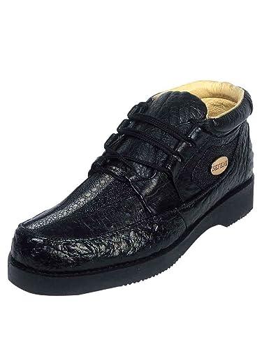 size 40 88be5 6b271 Sefeni Calzado Exoticoa Piel AvestruzMantarraya ID 112 CE1N Negro (6)