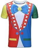 Funny World Men's Clown Costume T-Shirts