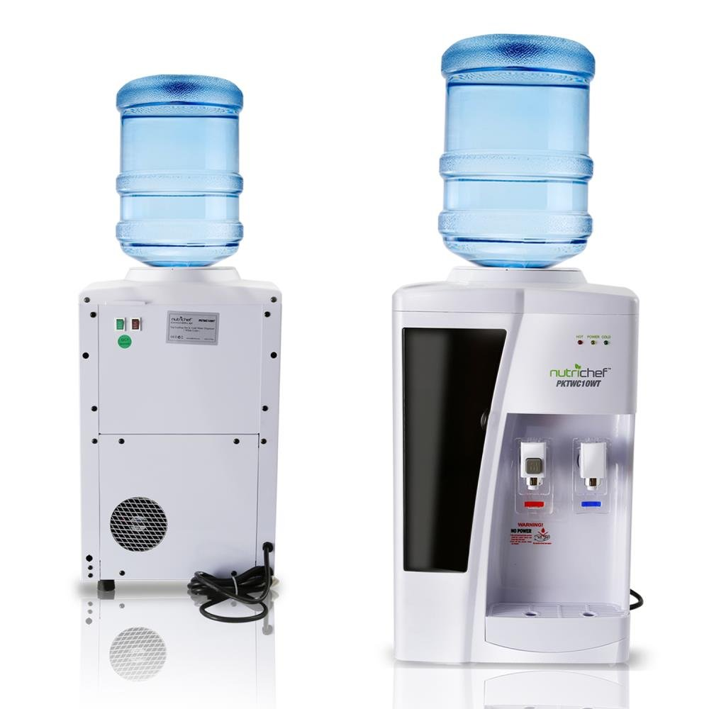 Nutrichef Countertop Water Cooler Dispenser - Hot & Cold Water, with Child Safety Lock. (White) by NutriChef (Image #3)