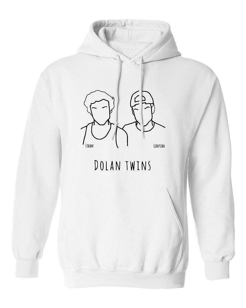 9786c0ee4 Amazon.com: SHEKI APPAREL Dolan Twins Mens Hoodie Hooded Sweatshirt:  Clothing