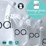 pal beverage flasks - High Quality, Heavy Duty, Reusable, Collapsable Travel Flask, Cruise Booze, Drink Smuggler, Rum Runner, Wine, Cocktails, Liquor Bag/Pouch Kit, And Funnel (FDA approved, BPA free, food grade plastic)